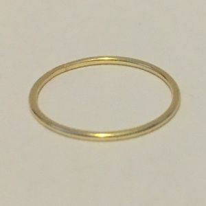 delicate 1mm gold-tone ring, NWOT